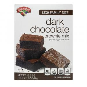 Hannaford Dark Chocolate Brownie Mix
