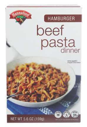 Hannaford Beef Pasta Dinner