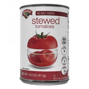 Hannaford No Salt Added Stewed Tomatoes