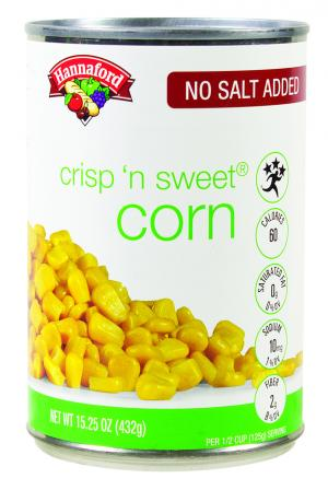 Hannaford No Salt Added Crisp & Sweet Corn