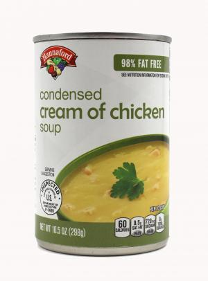 Hannaford 98% Fat Free Condensed Cream of Chicken Soup