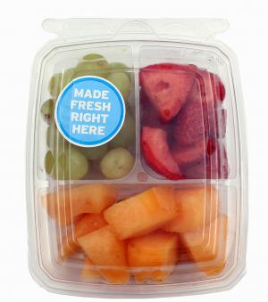 Tripack Green Grapes, Strawberry And Cantaloupe