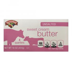 Hannaford Unsalted Sweet Cream Butter Quarters