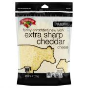 Hannaford New York Extra Sharp Cheddar Cheese Fancy Shreds