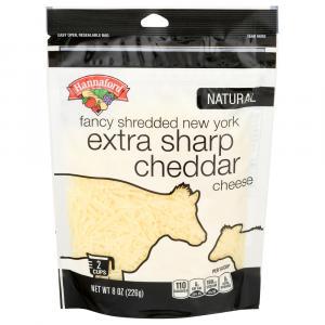 Hannaford New York Extra Sharp Cheddar Cheese Fancy Shreds