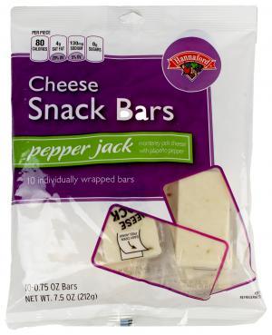 Hannaford Pepper Jack Cheese Snack Bars