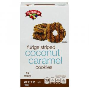 Hannaford Fudge Drizzled Caramel Coconut Cookies