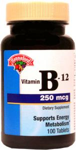 Hannaford Vitamin B12 250 Mcg Tablets