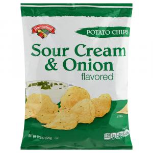 Hannaford Sour Cream & Onion Potato Chips