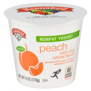 Hannaford Nonfat Yogurt Peach