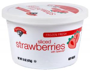Hannaford Sliced Strawberries With Splenda Tub