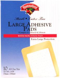 """Hannaford 3"""" X 4"""" Adhesive Pads"""