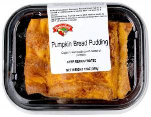 Hannaford Pumpkin Bread Pudding