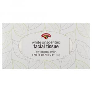 Hannaford White Unscented Facial Tissue