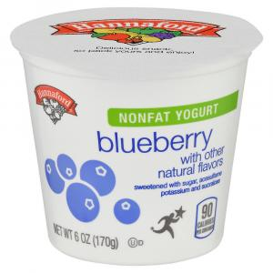 Hannaford Nonfat Yogurt Blueberry