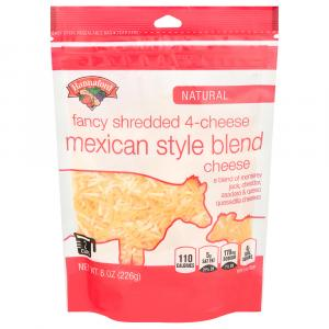 Hannaford Fancy 4 Cheese Mexican Blend Shredded Cheese