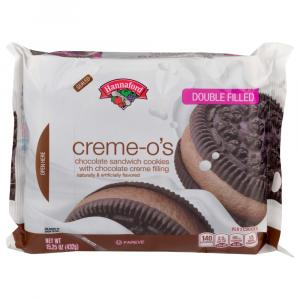 Hannaford Creme-O Double Filled Chocolate Cookies