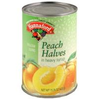 Hannaford Yellow Peach Halves In Heavy Syrup