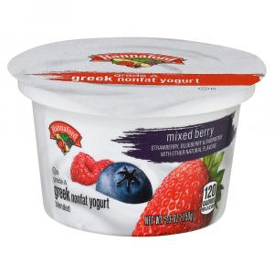 Hannaford Greek Nonfat Mixed Berry Yogurt