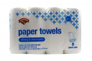 Hannaford Paper Towels Giant Rolls
