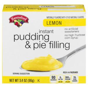 Hannaford Lemon Instant Pudding & Pie Filling