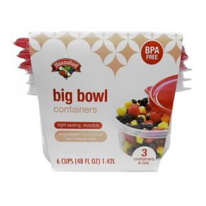 Hannaford Big Bowl Containers