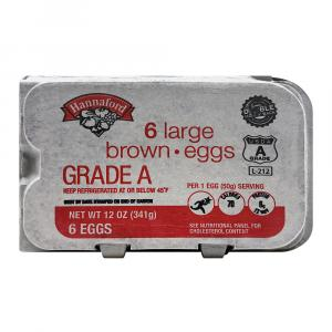 Hannaford Large Brown Eggs