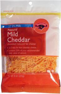 Hannaford 1/3 Less Fat Cheddar Shredded Cheese