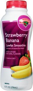 Hannaford Low Fat Strawberry Banana Smoothie
