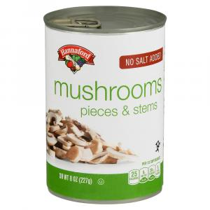 Hannaford No Salt Mushroom Stems & Pieces