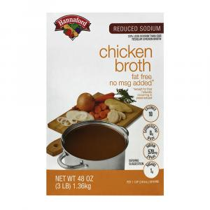 Hannaford Reduced Sodium Chicken Broth