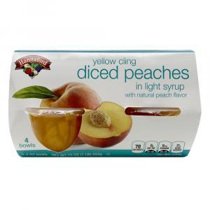 Hannaford Diced Peaches