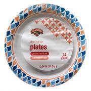 "Hannaford 10 1/16"" Designer Paper Plates"