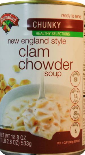 Hannaford Healthy Selections Chunky New England Clam Chowder