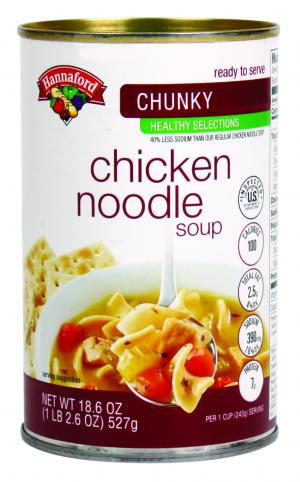 Hannaford Healthy Selections Chunky Chicken Noodle Soup