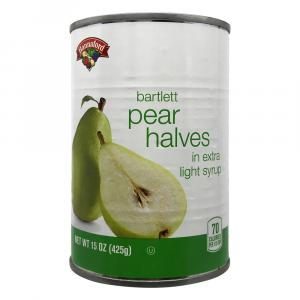 Hannaford Pear Halves in Extra Lite Syrup