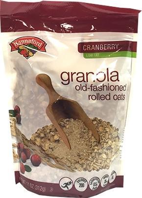 Hannaford Cranberry Low Fat Granola