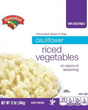 Hannaford Cauliflower Riced Vegetables