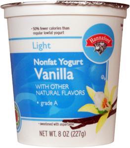 Hannaford Light Nonfat Vanilla Yogurt
