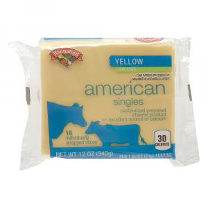 Hannaford Fat Free Yellow American Cheese Singles