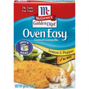 Mccormick Golden Dipt Oven Lemon & Pepper Seafood Coating