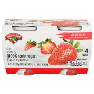 Hannaford Greek Nonfat Strawberry Yogurt