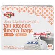 Hannaford Tall Kitchen Drawstring Flextra Bags Citrus Scent