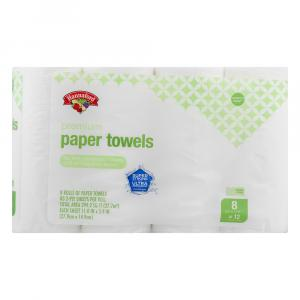 Hannaford Premium Paper Towels Choose a Size 8 Giant Rolls