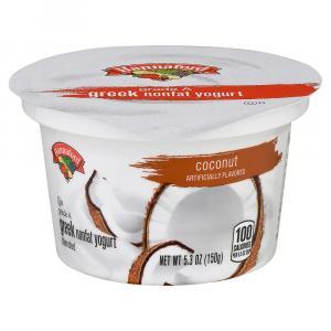 Hannaford Greek Nonfat Coconut Yogurt