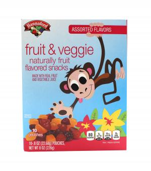 Hannaford Assorted Flavors Fruit & Veggie Fruit Snacks