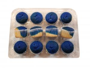 Hannaford Uniced Blue & White Mini Cupcakes