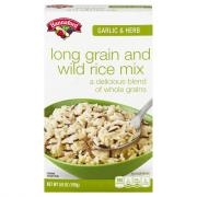 Hannaford Garlic & Herb Long Grain & Wild Rice Mix