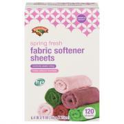 Hannaford Spring Fresh Fabric Softener Sheets
