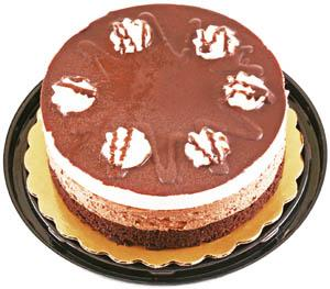 "Hannaford 7"" Black And White Mousse Cake"